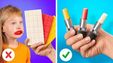 EDIBLE LIPSTICK?! 💄 CLEVER PARENTING HACKS WITH FOOD